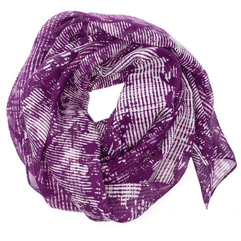 Basketweave Purple | Silk Chiffon