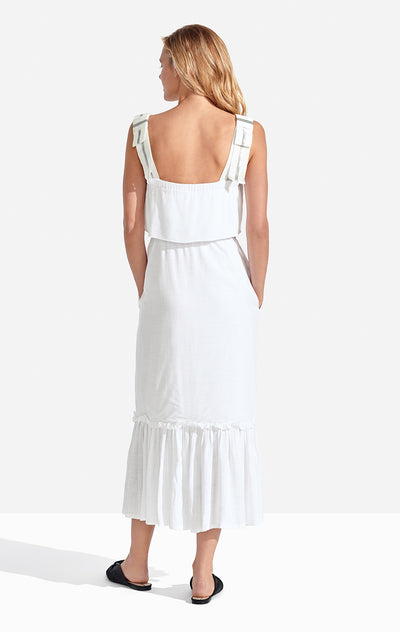 Clementine Dress Solid White