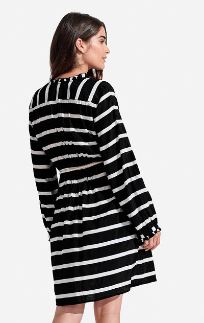 Delfina Dress Stripe