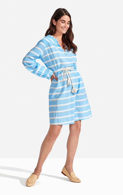 Delfina Dress Stripes Boy Blue