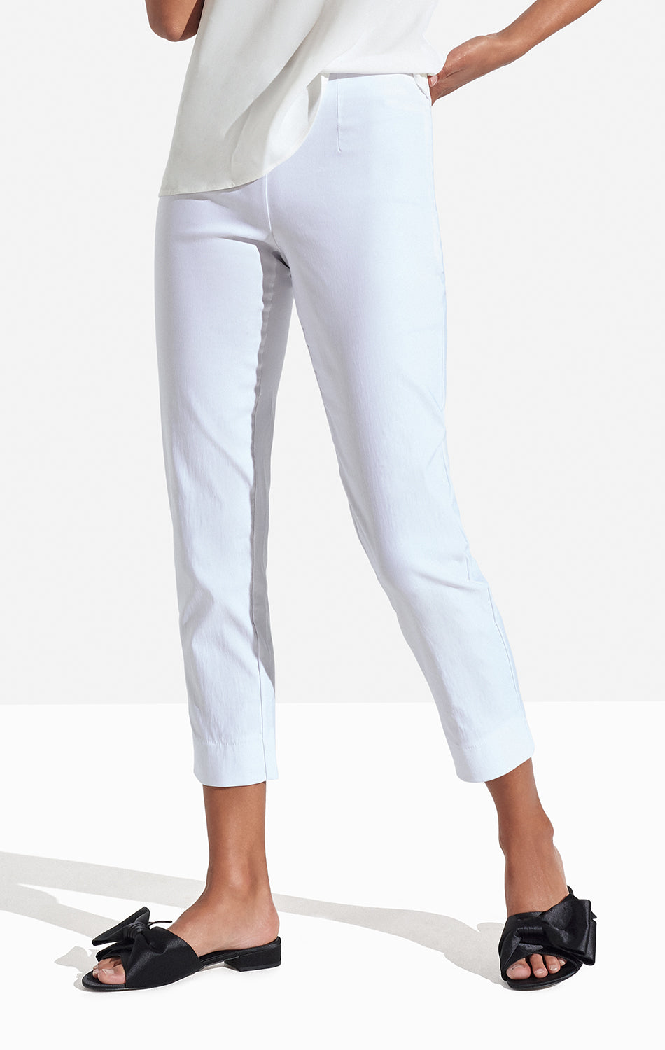 Georgie Crop Pant Solid Bright White