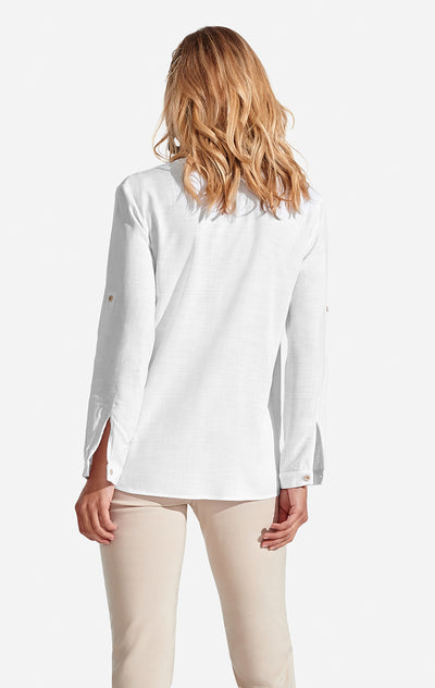Freya Top Solid White