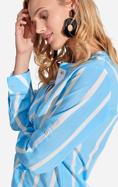 Freya Top Striped Boy Blue