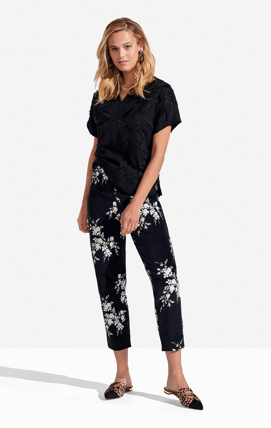 Georgie Crop Pant in Velvet