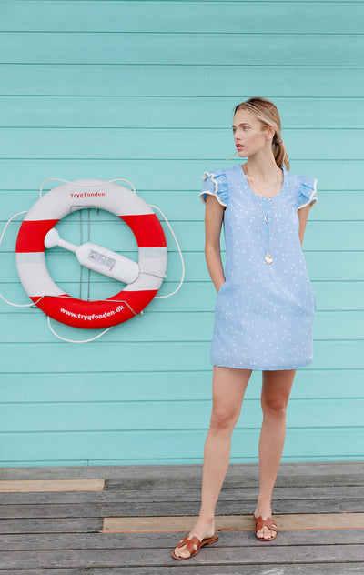 Clare Dress Polka Dots Boy Blue
