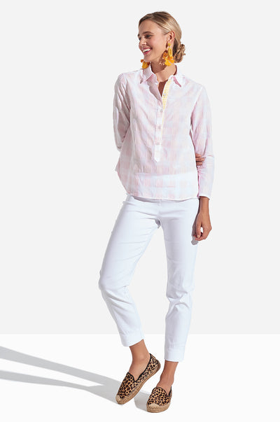 Sunna Shirt Gingham - Pale Pink