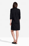 Winpenny Dress Solid in Caviar