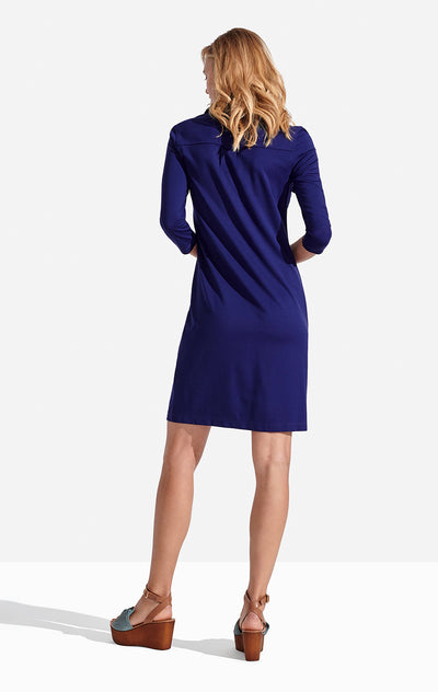 Winpenny Dress Solid in Admiral Blue