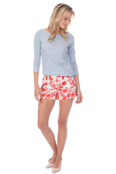Kelley Short Toile in Berry