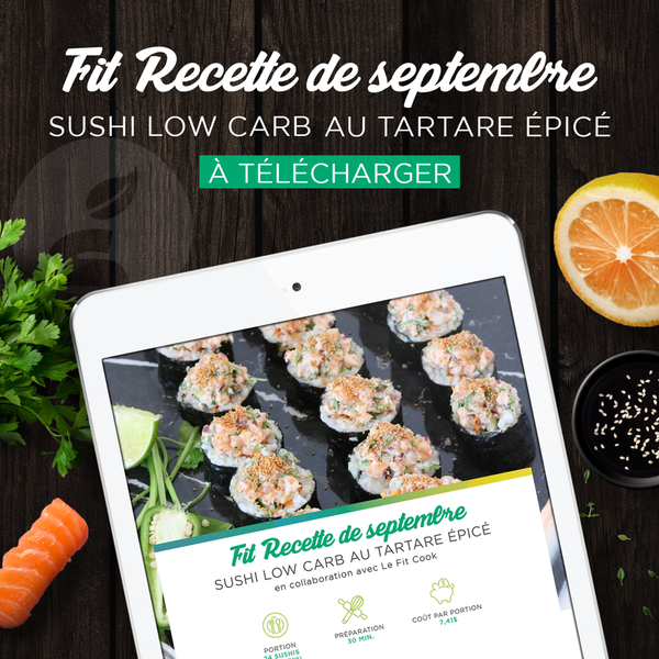 Fit Recette Septembre - Sushis Low Carb