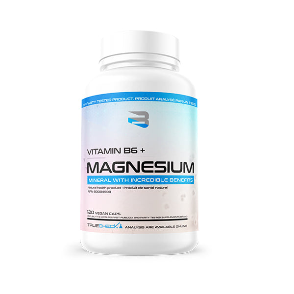 Believe Supplements- Vitamine B6 + Magnesium 120 caps - Shop Santé