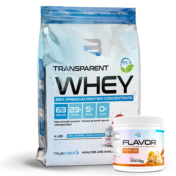 Believe Supplement - Transparent WHEY 4.4LBS + Saveur Gratuite - Shop Santé