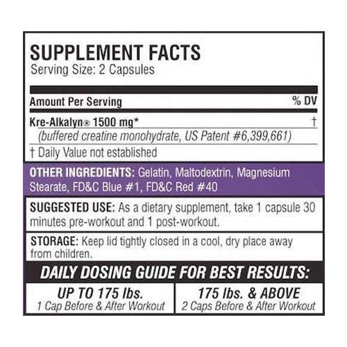 EFX Sports - Kre-Alkalyn EFX 192 Capsules - Shop Santé