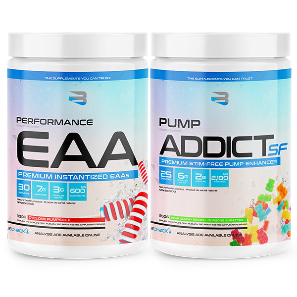 Believe Supplement - Duo Performance EAA / Pump Addict SF - Shop Santé