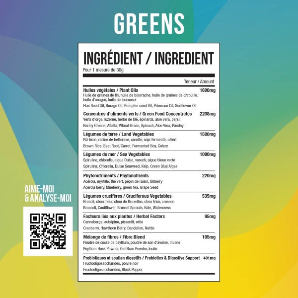 ATP Green and red whole foods 100% organic - 30 Portions