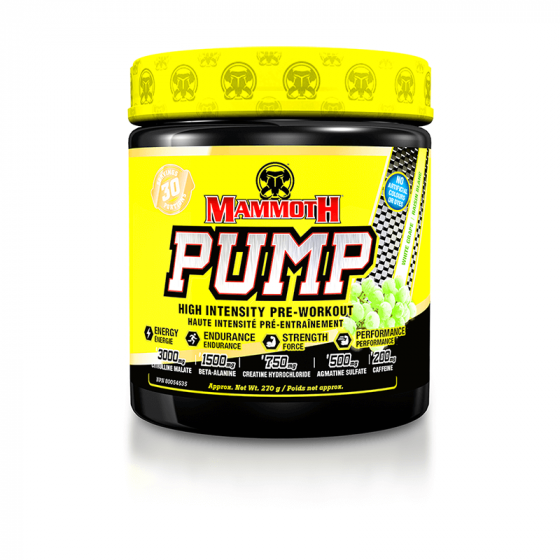 Mammoth Supplements - Mammoth Pump 30 Servings - Shop Santé