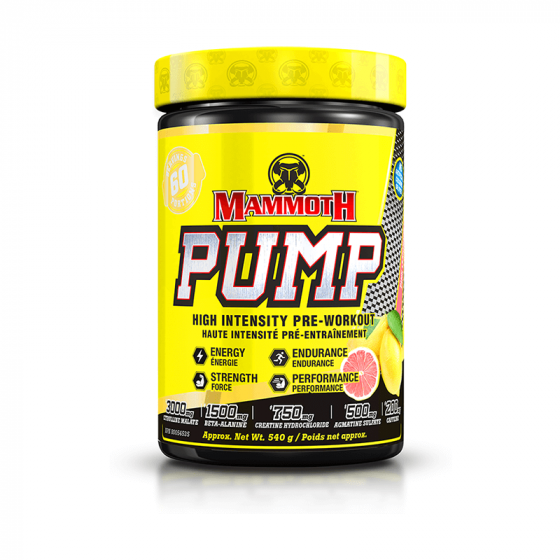 Mammoth Pump 60 Servings - Shop Santé