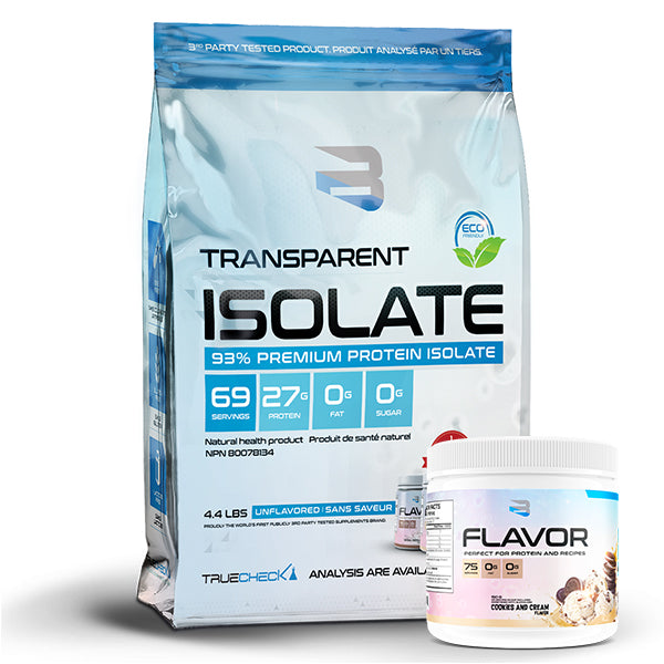 Believe - Transparent Isolate 4.4lb + Saveur Gratuite - Shop Santé