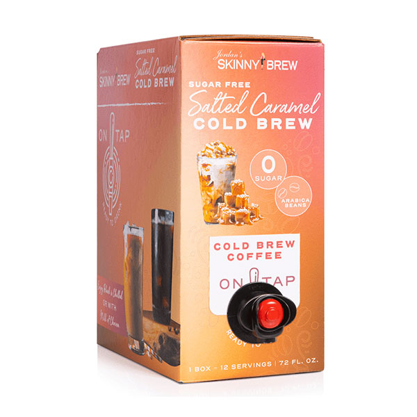 Jordan's Skinny Mixes - Cold brew Coffee Salted Caramel Sugar Free 72fl - Oz - Shop Santé