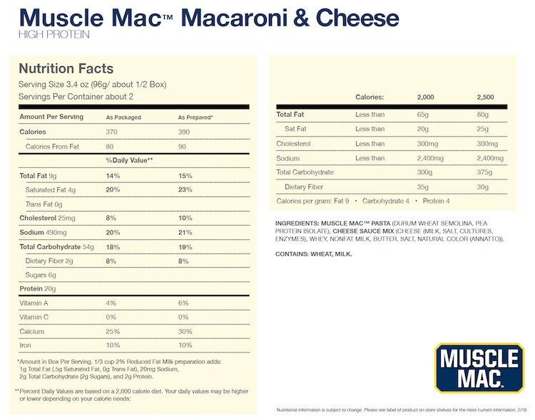 Muscle Mac - Macaroni & Cheese 191g