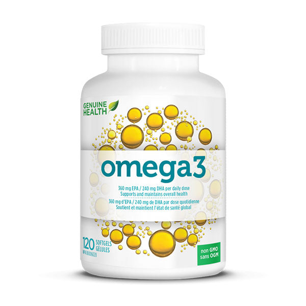 Genuine Health - Omega 3 (120 gélules) - Shop Santé