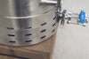 Ss Brew Kettle 10 Gal Brewmaster Edition ball valve with sight glass and racking arm