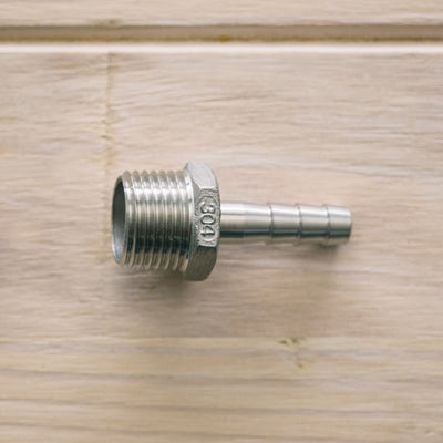 "Hose Barb 1/2"" MPT to 3/8"" SS Brewing Technologies"