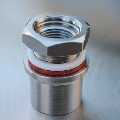 weldless thermometer coupling for Ss kettles