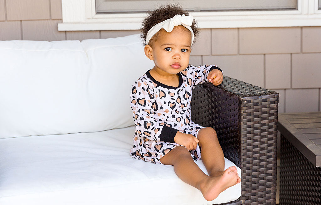 Baby in Leopard Bamboo Pajamas