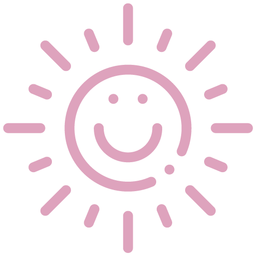 illustration of smiling sun representing totes adorbs