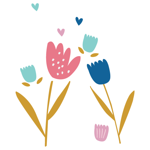 illustration representing flowers and elements to give people one soft snuggle at a time