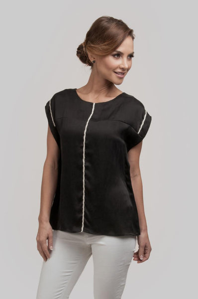 Austral Tunic Blouse - Black