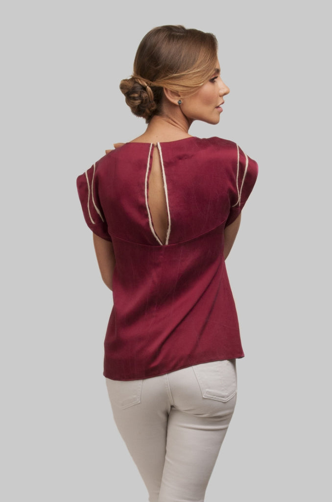 Austral Tunic Blouse - Burgundy