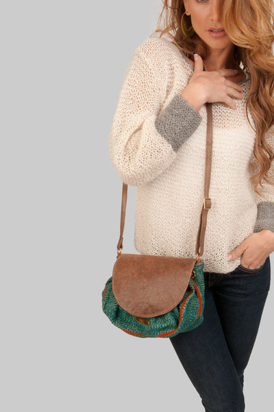 Clara Textil Bag - Brown