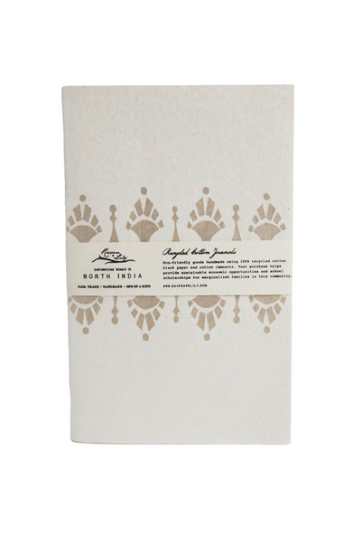 Uzma Recycled Paper Journal - Gold Gatsby