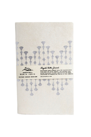 Uzma Recycled Paper Journal - Silver Fitzgerald