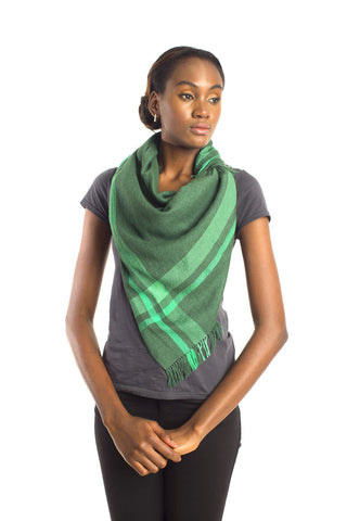 Urban Glacier Scarf - Green Plaid