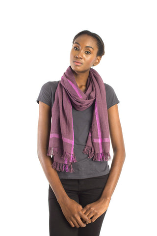 Urban Cross Scarf - Purple Plaid