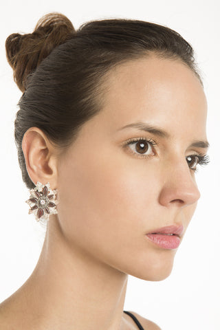 Flora Negra Earrings