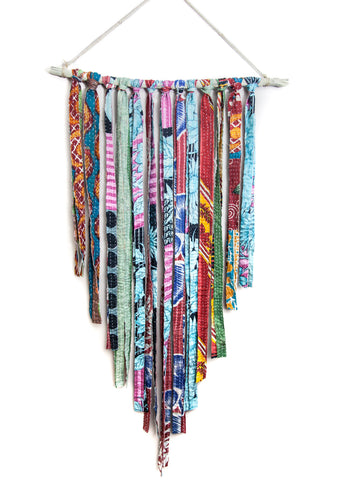 Large kantha fringe wall hanging by SoulMakes