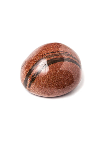 Large tumbled red goldstone therapy stone by SoulMakes