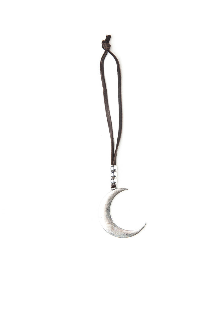Silver crescent moon charm ornament by SoulMakes