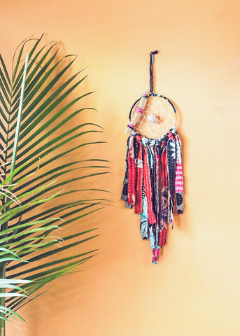 Vintage kantha dream catcher by SoulMakes