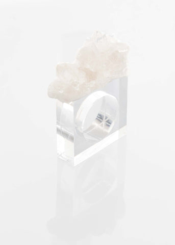 Clear Quartz Napkin Holder