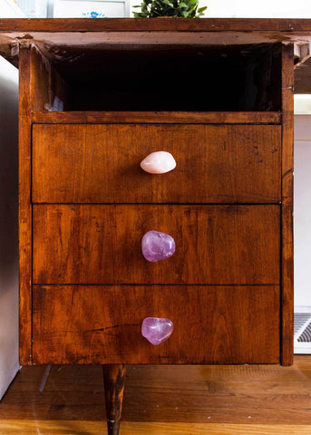 Amethyst Drawer Pull Knob - Set of 2