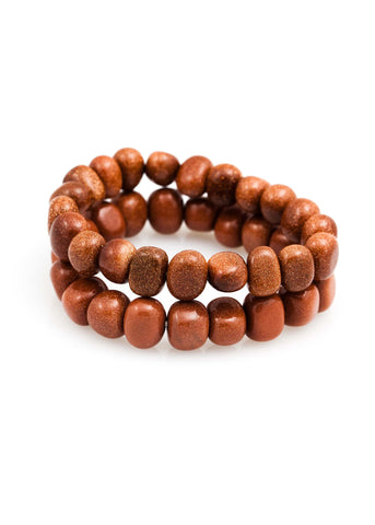 Red Goldstone Pebble Bracelet