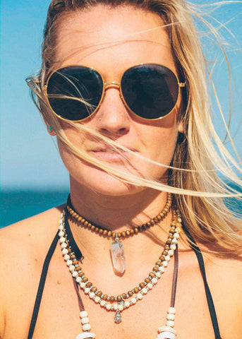 Sunset Crystal Choker