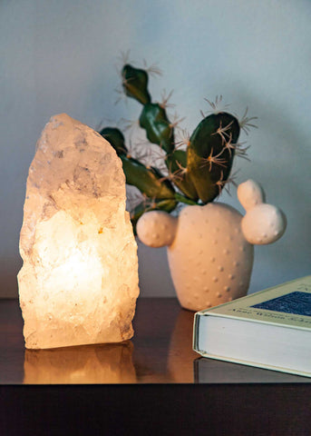 Clear Quartz Mountain Lamp