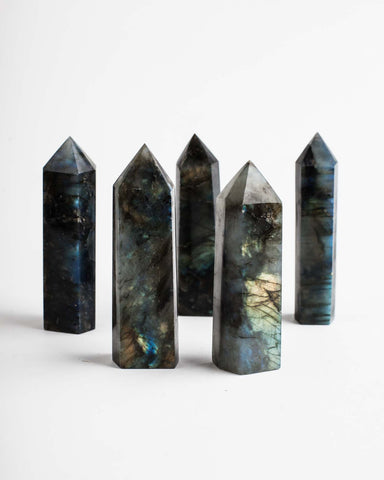 Polished Labradorite Point