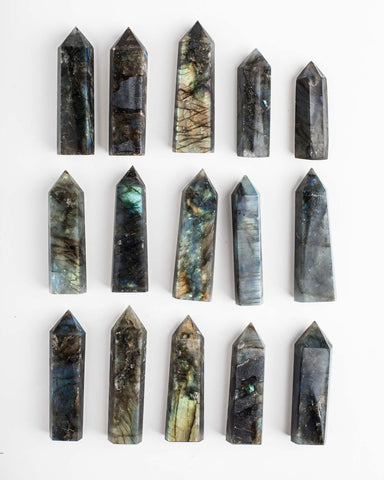 Labradorite Polished Point Wand